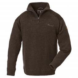 Pinewood Men's Knitted Pullover HURRICANE (brown)