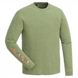 Pinewood Men's T-shirt longsleeve Bolmen (green mottled)
