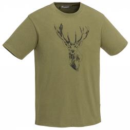 Pinewood Men's T-Shirt Red Deer (green)