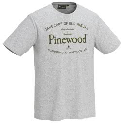 Pinewood Men's t-shirt Save Water (mottled gray)