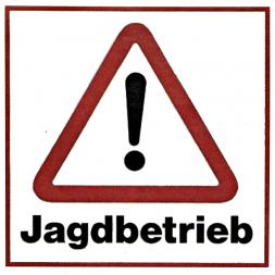 Plate JAGDBETRIEB