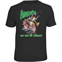 "Rahmenlos mens t-shirt ""Fishing - only for Men!"" (German version only)"