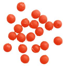 Rubber beads (round, orange, Ø 6 mm)