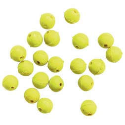 Rubber beads (round, yellow, Ø 8 mm)