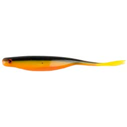 Sänger Premium Split Tail Shad - black/yellow/orange