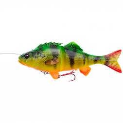 Savage Gear Softbait 4D Line Thru Perch (sinking, Firetiger)