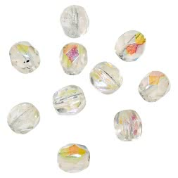 Seapoint Glass Beads (clear/cut)