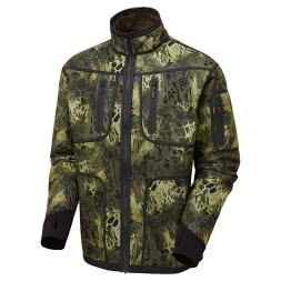 Shooterking Men's Softshell Jacket Woodland (reversible)