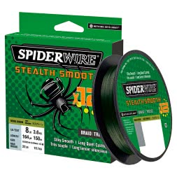 Spiderwire Fishing Line Stealth Smooth 12 Braid (Moss Green, 150 m)