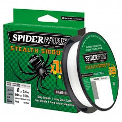 Spiderwire Fishing Line Stealth Smooth 12 Braid (Translucent, 150 m)