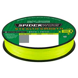 Spiderwire Fishing Line Stealth Smooth 8 (Hi-Vis yellow, 150 m)