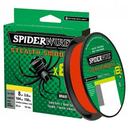 Spiderwire Fishing Line Stealth Smooth 8 (Red, 150 m)