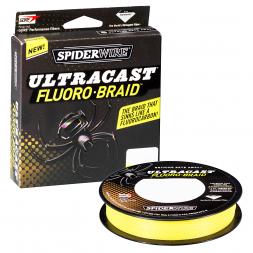 Spiderwire Fishing Line Ultracast Fluorobraid (Yellow)