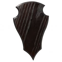 Stag Horn Shield, large, 5 as a set