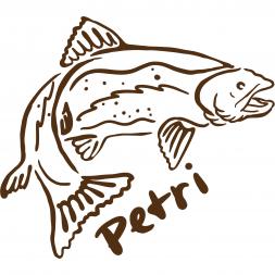 "Sticker ""Trout Petri"""