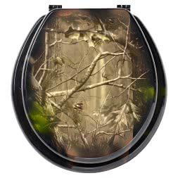 Toilet seat in Realtree design