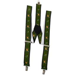 Unisex Braces with Hunting Motif (Roebuck)