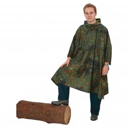 Unisex German Army Poncho (Camouflage)