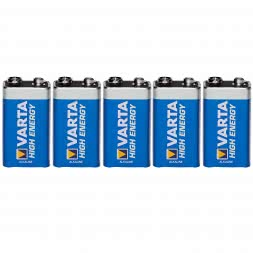 Varta Block Battery (Set of 5, 9V)