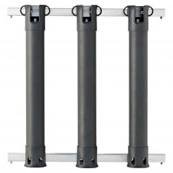 Wall Mounted Rod Holder for 3 Rods