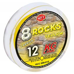 WFT Fishing Line 8 Rocks KG / 8-Carrier Super Braid (yellow)