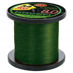 WFT Fishing Line KG 8.0 8-Carrier Super Braid (green, 600 m)