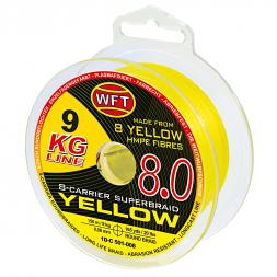 WFT Fishing Line KG 8.0 8-Carrier Super Braid (yellow, 150 m)