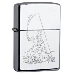 Zippo with Angling Motif